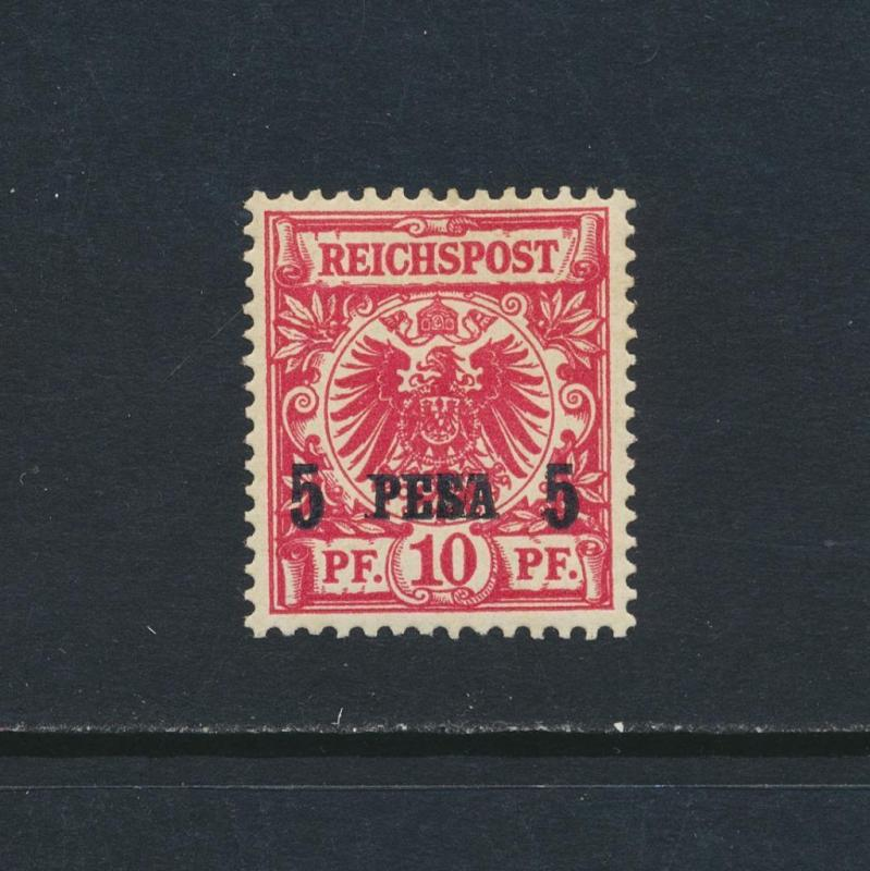 GERMAN EAST AFRICA 1893, 5p on 10pf RED CARMINE, VF MLH Mi#3ld €600 (SEE BELOW)