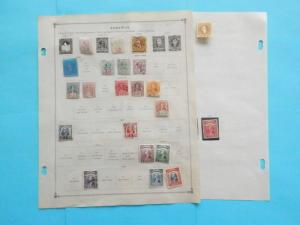 SARAWAK FANTASTIC OLD COLLECTION 1889-1934 ON PAGES DR SCHULTZ ESTATE !!9150S