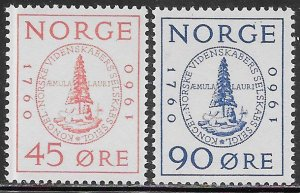 Norway 380-381 MNH - Royal Society of Scientists