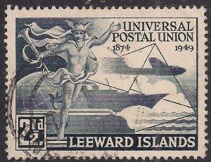 Leeward Islands 1949 KGV1 3d Blue UPU Postal Union used SG 120 ( K1180 )
