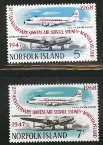 Norfolk Island Scott 119-120 MNH** Airplane service set