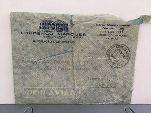 Mozambique 1952 Lourenco Marques  Air Mail  to England stamp cover   R31883