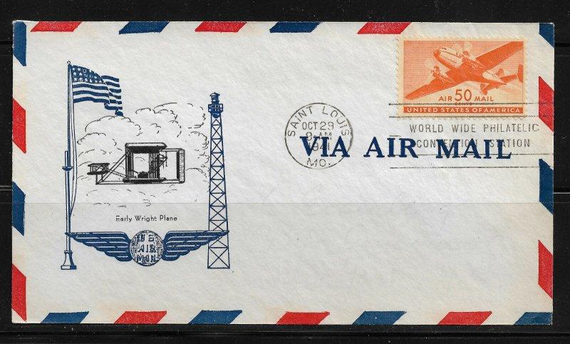 US 1941 Air mail 50c, Scott # C31 Cachet Cover ,XF Condition !!