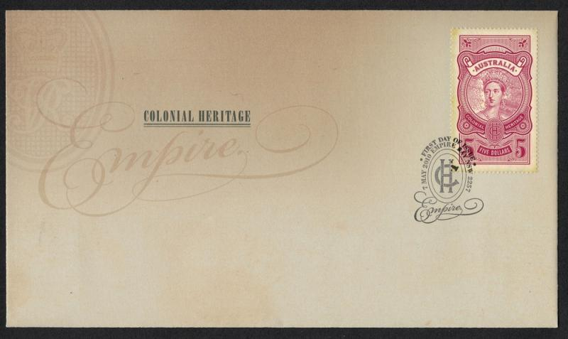 2010 Australia Colonial Heritage Empire FDC First Day Cover $5 Stamp