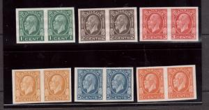 Canada #195c - #200a Extra Fine Never Hinged Imperf Pair Set