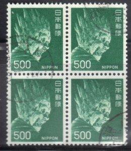 JAPAN  SC# 1085 **USED** 1974  500y   BK of 4  SEE SCAN