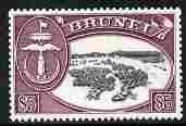 Brunei 1952-58 def $5 black & maroon Script CA unmoun...