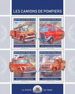 Z08 TG190117a TOGO 2019 Fire engines MNH ** Postfrisch