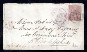 GB QV 6d mauve on cover to USA WS15233