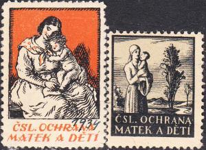 Czechoslovakia  CSL Ochrana Matek a Deti  Labels MNH