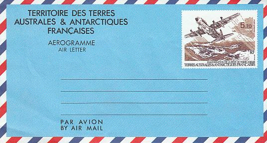 French Southern & Antarctic Territories Aerogram Unused