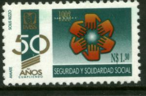 MEXICO 1809, Social Security Institute, 50th Anniversary MINT, NH. VF.