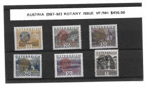 Austria B87-92 Rotary Int'l Semi-Postal set MNH (BB)