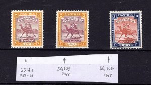 Sudan 1927-1948 Arab Postman Multiple Stamps
