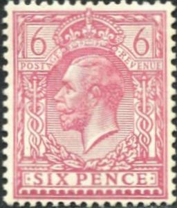 SG385 SPEC N26(4), 6d pale reddish purple, M MINT. Cat £20.