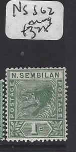 MALAYA  NEGRI SEMBILAN (P2005BB)  GREEN 1C TIGER SG 2   MOG