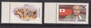 TONGA ^^^^^1983  sc# 540( King) +  other ( Sea Corral)   MNH   $$@ ha650toga