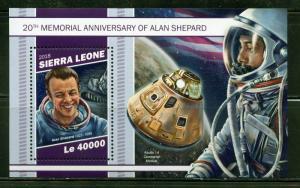 SIERRA LEONE 2018 20th MEMORIAL OF ALAN SHEPARD   SOUVENIR SHEET  MINT NH