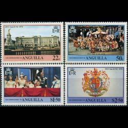 ANGUILLA 1978 - Scott# 315-8 Coronation Set of 4 NH