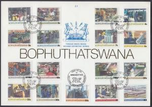 South-Africa - Bophuthatswana stamp Industry memorial sheet Cover 1985 WS142790