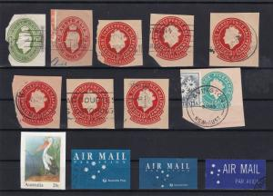 australia stamped envelope stamps card cut refs 18350