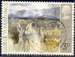 Painting from Northern Ireland, Great Britain SC#648 used