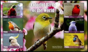 HERRICKSTAMP NEW ISSUES PALAU Colorful Birds Sheetlet #2