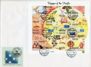 MICRONESIA 1999 VOYAGES OF THE PACFIC SHEET FIRST DAY COVER