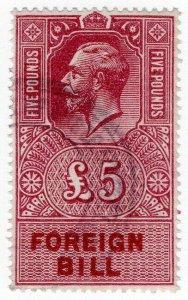 (I.B) George V Revenue : Foreign Bill £5
