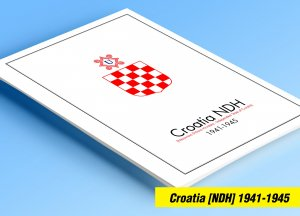 COLOR PRINTED CROATIA [NDH] 1941-1945 STAMP ALBUM PAGES (30 illustrated pages)