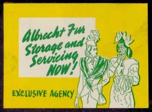 Albrecht Furs Advertising Poster Stamp # 3