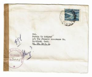 Argentina WWII Censored Cover  - Z194