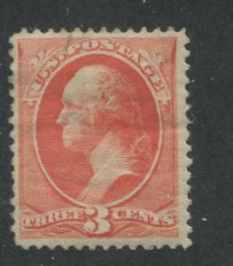 1887 US Stamp #214 Mint Hinged F/VF Original Gum Faults Catalogue Value $60