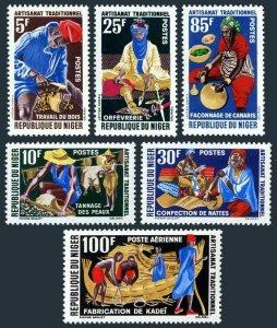 Niger 117-121,C26,MNH.Mi 37-42. Professions,1963. Woodworker,Tanners,Goldsmith,