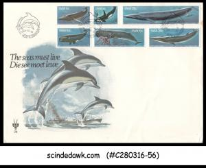 SOUTH WEST AFRICA - 1980 WHALES / MARINE MAMMELS / FISH - MIN/SHT - FDC