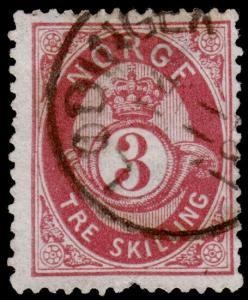 Norway Scott 18 (1872) Used F, CV $35.00 C
