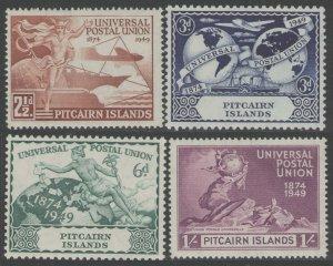 1949 Pitcairn Islands 15-18 75 years UPU - Transport 50,00 €