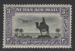 SUDAN SG55 1931 3½p BLACK & VIOLET p14 MTD MINT