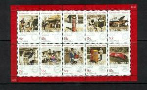Australia: 2009, Bicentenary of Postal Services in Australia, Sheetlet