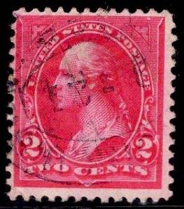 US Stamp #252 2c Carmine Washington USED SCV $13.00 Type III