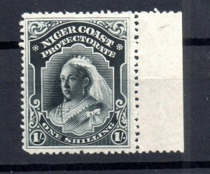 Niger Coast Protectorate 1894 1/- black mint LHM SG56 WS16774
