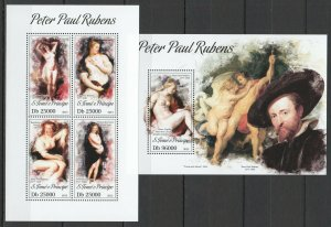 ST1754 2013 S. TOME & PRINCIPE ART PAINTINGS PETER PAUL RUBENS KB+BL MNH STAMPS