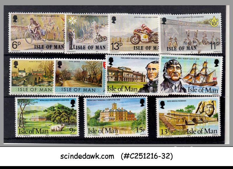 ISLE OF MAN - SELECTED STAMPS - 11V - MINT NH
