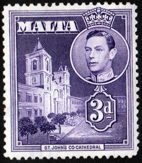 Malta KGVI 1938 3d Dull Violet SG223 Mint Hinged
