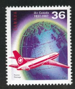 Canada Scott 1145 MH** Air Canada 1987