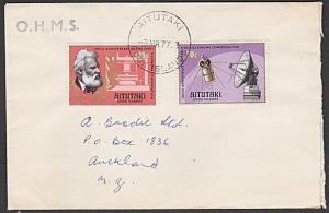 AITUTAKI 1977 cover to New Zealand - Telephone / Satellite.................29087