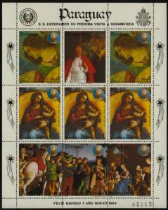 Paraguay 2115 sheet MNH Christmas, Art, Madonna & Child