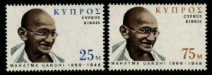 CYPRUS SG343/4 1970 BIRTH CENTENARY OF MAHATMA GANDHI MNH