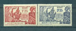Martinique sc# 186-187 (1) mh cat value $2.35