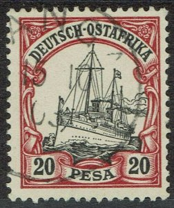 GERMAN EAST AFRICA 1901 YACHT 20 PESA USED